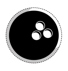 bowling ball isolated icon vector image