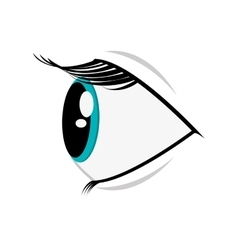 cartoon eye profile icon vector image