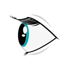 Cartoon eye profile icon vector