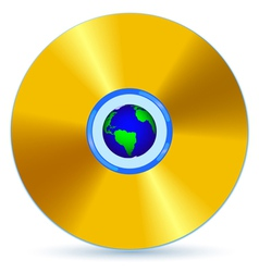 CD and Globe vector