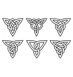 Celtic knot set vector