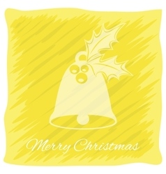 Christmas or New Year s greeting card logo vector image