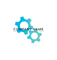 Cog setting brand template logo logotype theme art vector