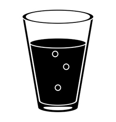 cup glass coffee caffeine drink pictogram vector image