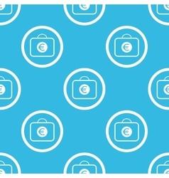 Euro bag sign blue pattern vector