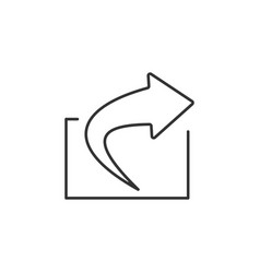 export share line icon simple modern flat for vector image