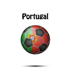 Flag of portugal in the form of a soccer ball vector
