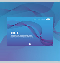 Full header for website landing page with line vector