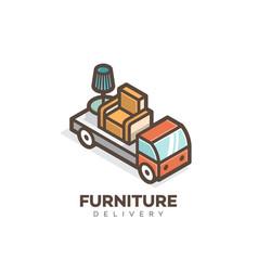 furniture delivery logo vector image