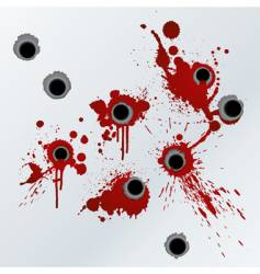 gunshot blood background vector image