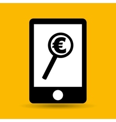 Hand save money euro search icon vector