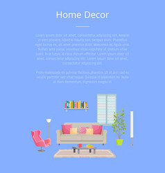 home decor poster with text vector image