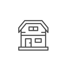 house line icon vector image
