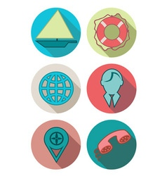 Icons sea vector image
