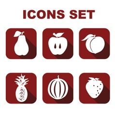 Icons set food vector image
