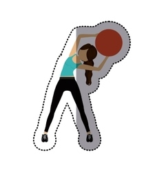 Isolated Girl doing exercise design vector image