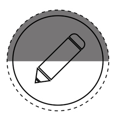 Isolated pencil symbol vector