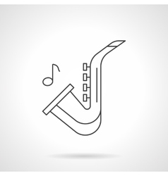 Jazz music flat line icon vector image