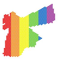 lgbt spectrum dot jordan map vector image