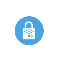 lock icon padlock sign wifi protected wi-fi vector image