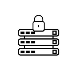 locked database icon vector image