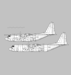 lockheed c-130j super hercules vector image