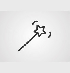 magic wand icon sign symbol vector image