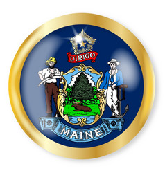 maine flag button vector image