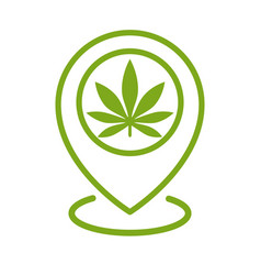 marijuana store location icon map pointer vector image