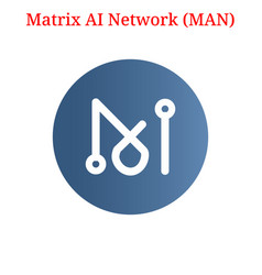 Matrix ai network man logo vector