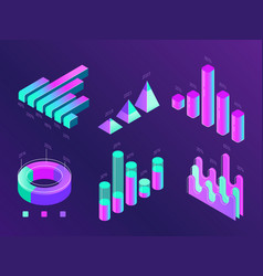 modern isometric business infographic percentage vector image
