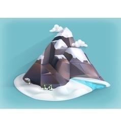 Mountain winter icon vector