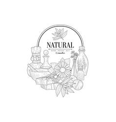 Natural cosmetics vintage sketch vector