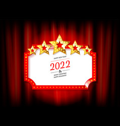New year marquee 2022 vector