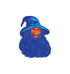 Norse God Odin Beard WPA vector image