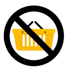 not shopping icon vector image