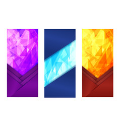 purple and light blue vertical banner with bright vector image