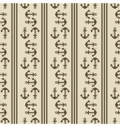 seamless pattern of anchor helm vector image