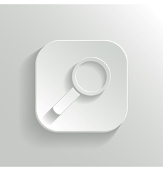 Search icon - white app button vector image