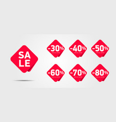 Set advertising discount labels with percentage vector