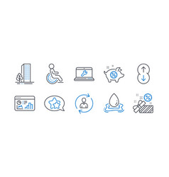 Set business icons such as buildings piggy vector