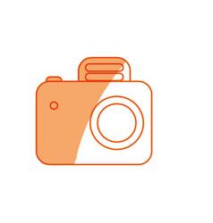 Silhouette camera symbol icon design vector