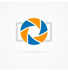Simple camera logo vector