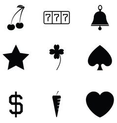 slot machine icon set vector image