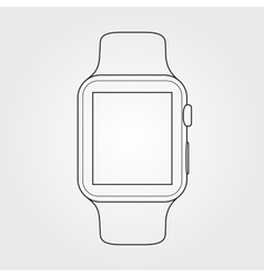 Smartwatch line art symbol hand drawn vector image
