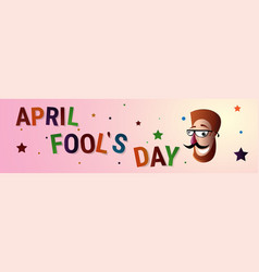 smiling mouth first april fool day happy holiday vector image