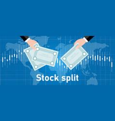 Stock split company do exchange transaction vector