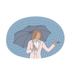 storm rain autumn concept vector image