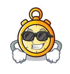 Super cool chronometer character cartoon style vector
