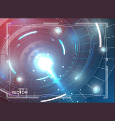 tech background neon glow grid wallpaper science vector image